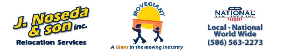 J Noseda and Son Moving Company Logo